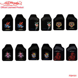 New 2pcs Set Ed Hardy By Christian Audigier Front Car Truck Carpet Floor Mats