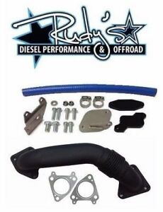 Egr Cooler Delete Kit W Up Pipe Gaskets For 06 07 Gm 6 6l Lbz Duramax Diesel