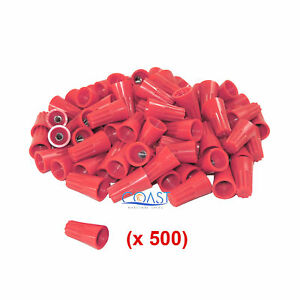 Straight Barrel Red Twist on Wire Connector 16 10 Awg Ga Ul Listed 500 Pcs