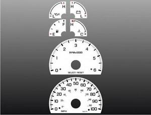 1999 2003 Ford F150 Expedition Dash Cluster White Face Gauges 99 03