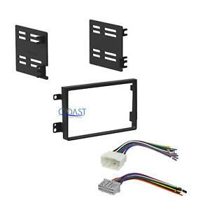Car Radio Stereo Double Din Dash Kit Harness Combo For 2007 2011 Honda Element