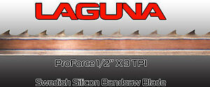 1 2 X 3 Tpi X 131 1 2 Bandsaw Blade Laguna Tools Proforce Wood Band Saw Blade
