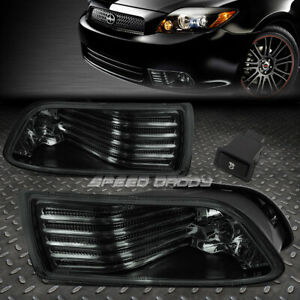 For 05 10 Scion Tc Jdm Smoked Lens Black Driving Fog Light oe Rh lh Lamp switch