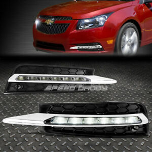 For 10 14 Chevy Cruze Full Led Drl Oe Bumper Fog Daytime Running Light Bezel Kit