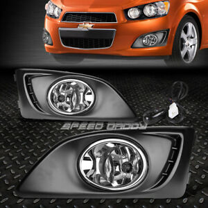 For 11 15 Chevy Aveo Sonic Front Bumper Driving Fog Light Lamps W Bezel Switch