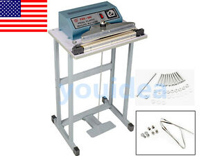 Us 110v 12 Foot Pedal Impulse Sealer Heat Seal Machine Plastic Bag Sealing