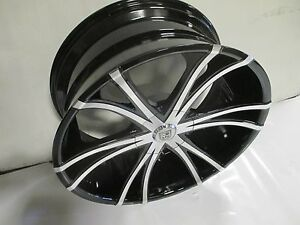 Lexani Lx 12 Wheel 22x10 Blank 15 Mach Blk New W Cap Price Per Wheel