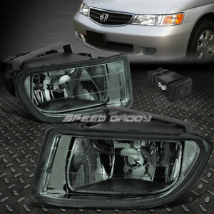 For 99 04 Honda Odyssey Smoked Lens Front Bumper Driving Fog Light Lamp W switch