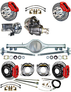 New Suspension Wilwood Brake Set currie Rear End posi Gear booster 798114 red