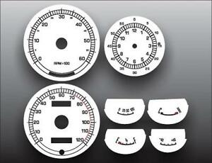 1967 1968 Mercury Cougar Xr7 Dash Instrument Cluster White Face Gauges 67 68