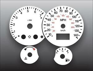 2000 2004 Ford Focus Tach Dash Instrument Cluster White Face Gauges