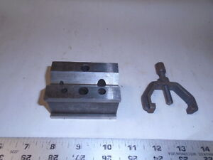 Machinist Tool Lathe Mill Machinist Brown Sharpe Unusual V Block And Clamp 751