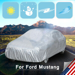 9 Layers Soft Seamless Snow Protection Resister Uv Car Cover For Ford Mustang
