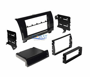 Car Radio Stereo Single Double Din Dash Kit For 2007 2013 Toyota Tundra Sequoia