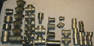 Large Lot Of Stainless Steel Socket Weld Fittings Free Shipping