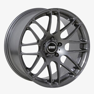 18x9 5 Vmr Rims V718 Custom Et45 Gunmetal Wheels set Of 4
