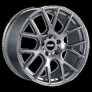 19x8 5 Vmr Rims V810 Custom Et45 Gunmetal Wheels set Of 4