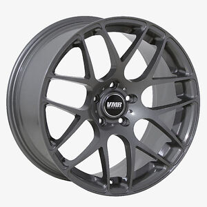 19x8 5 Vmr Rims V710 Custom Et45 Gunmetal Wheels set Of 4