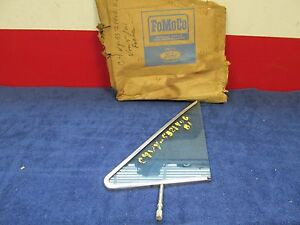 1964 Lincoln Continental Lh Front Door Vent Window Glass Frame Nos Ford 616
