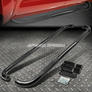For 99 16 Silverado sierra Ext Cab Black Ss 3 Side Step Nerf Bar Running Board