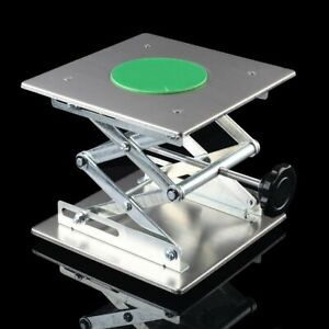 8 Stainless Steel Lifting Platforms Stand Rack Scissor Lab Jack 200mm 200mm