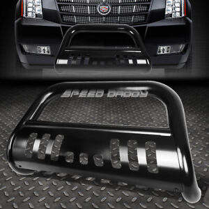 For 07 14 Chevy Suburban Tahoe Escalade Black Bull Bar Push Bumper Grille Guard