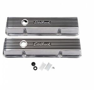 Edelbrock 4263 Elite Ii Series Tall Valve Covers For 262 400 Sb Chevy V8