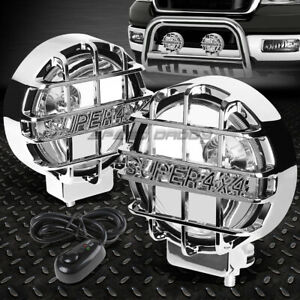 6 Round Chrome Housing Clear Fog Light offroad Super 4x4 Guard Work Lamp switch