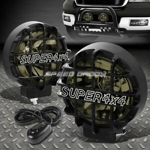 6 Round Black Housing Smoked Fog Light Offroad Super 4x4 Guard Work Lamp Switch