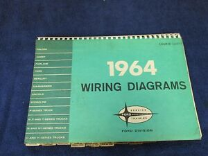 Original 1964 Ford Lincoln Mercury Wiring Diagrams Book 616