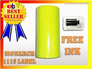 Fluorescent Yellow Label For Monarch 1115 Pricing Gun 1 Sleeve 10rolls