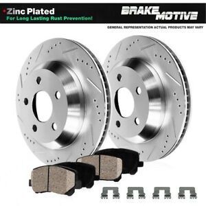 Rear Drilled Slotted Brake Rotors And Ceramic Pads Chevy S 10 Gmc Jimmy Sonoma