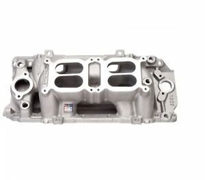 Edelbrock 7520 Rpm Air gap Dual quad Intake Manifold For 396 502 Bb Chevy V8