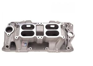 Edelbrock 7525 Rpm Air gap Dual quad Intake Manifold For Sb Chevy 262 400ci V8