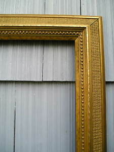 Antique Aesthetic Eastlake Victorian Bronze Gold Rare No 118 Picture Frame 14 17