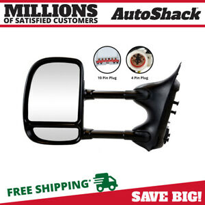 Black Power Tow Driver Left Side Mirror For 99 07 Ford F 250 Super Duty