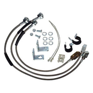 Stainless Steel Brake Hose Kit With 6 Lift For Jeep Wrangler Yj Tj Cherokee