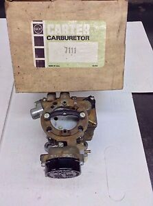 Nos Carter Yf Carburetor 7111s 1977 American Motors Jeep 232 258 Engines