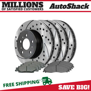 4 Performance Rotors And 8 Ceramic Brake Pads Fits Cadillac 03 07 Cts 05 08 Sts