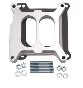 Edelbrock 8714 Aluminum Square bore 1 Thick Carburetor Spacer