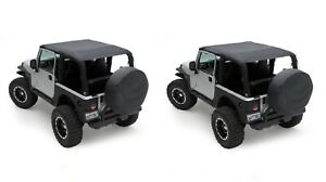 Smittybilt 93635 Extended Top W Windshield Channel For 97 06 Jeep Wrangler Tj