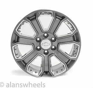 4 New Chevy Silverado Avalanche Gun Metal Chrome Inserts 20 Wheels Rims 5660