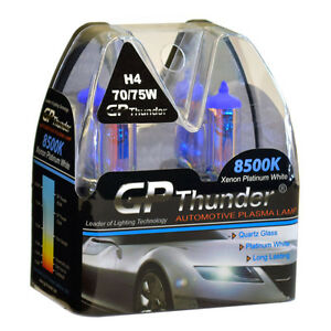 Gp Thunder Ii 8500k H4 9003 Hb2 Xenon Quartz Halogen Light Bulb 75 70w Pair