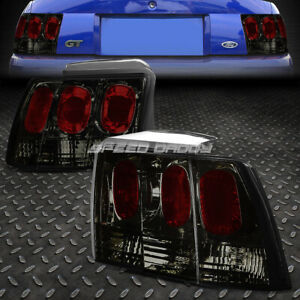 For 1999 2004 Ford Mustang Smoked Housing Altezza Euro Tail Light Brake Lamp