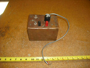 Vintage Copper Box Test Box Tv Ham Radio Test Equipment