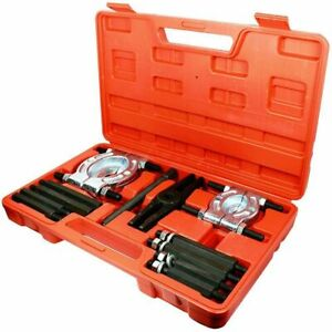 12pcs Bearing Puller Separator Set 2 3 Splitters Fly Wheel Removal Tool Kit