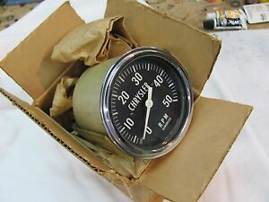 Vintage Stewart Warner 5k Electric Tachometer For Chrysler 1968 Model 765 Nos