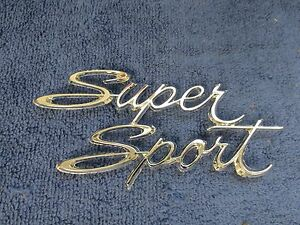 1966 67 Chevy Nova Chevy Ii Rear Quarter Panel Emblem Ss Supersport Nos Gm 716