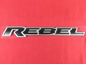 Dodge Ram Rebel Black Silver Tailgate Nameplate New Oem Mopar