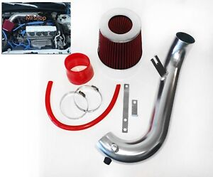 Red For 2001 2005 Honda Civic 1 7l L4 Air Intake System Kit Filter